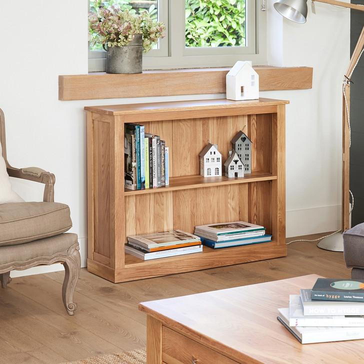 Mobel Oak Low Bookcase - COR01B - 1
