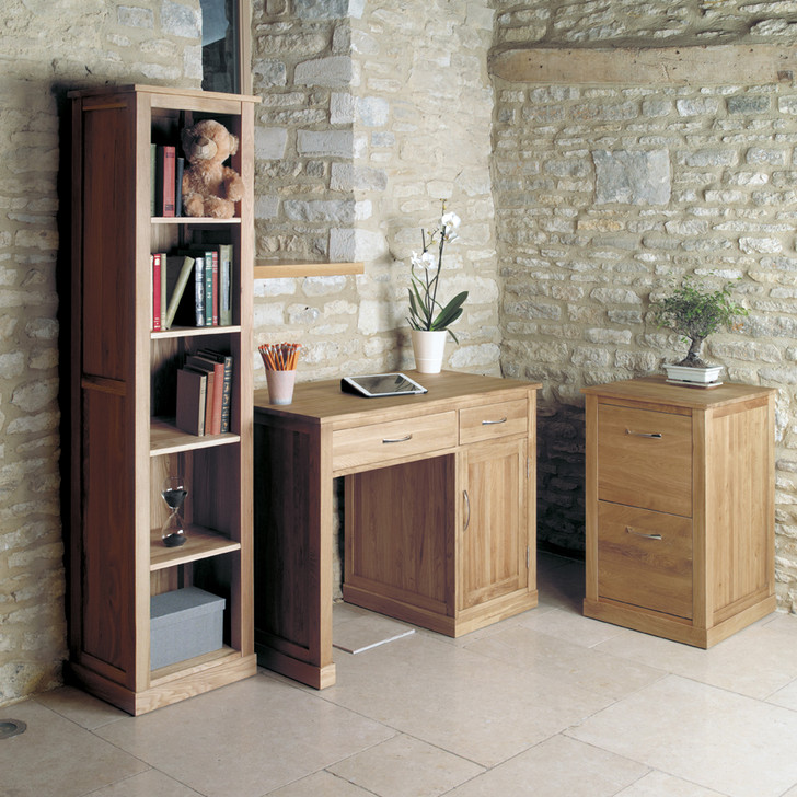 Mobel Oak Narrow Bookcase - COR01D - 1
