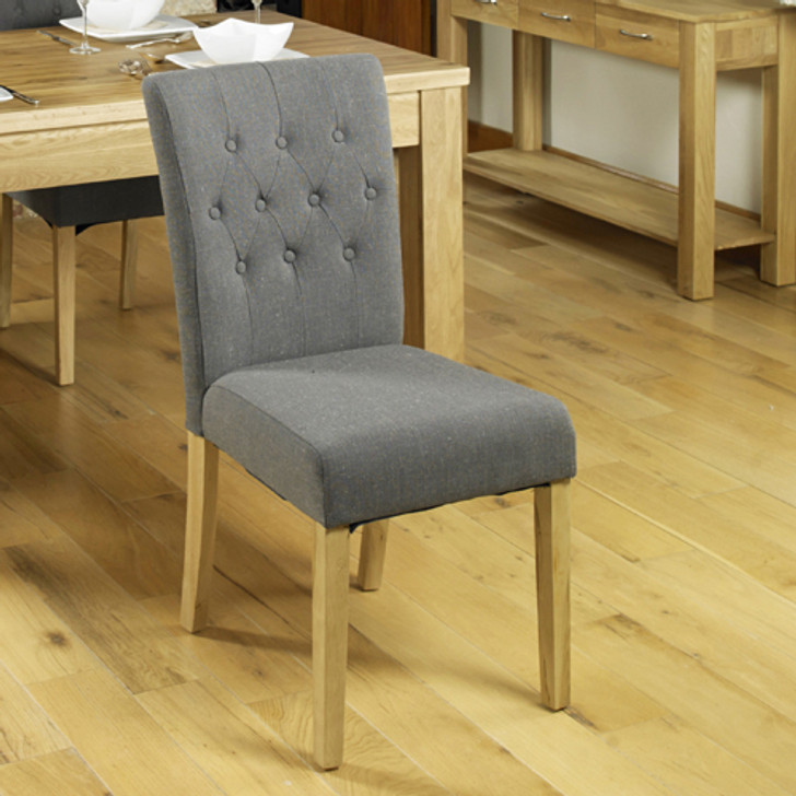 Two grey dining chairs - COR03E - 1