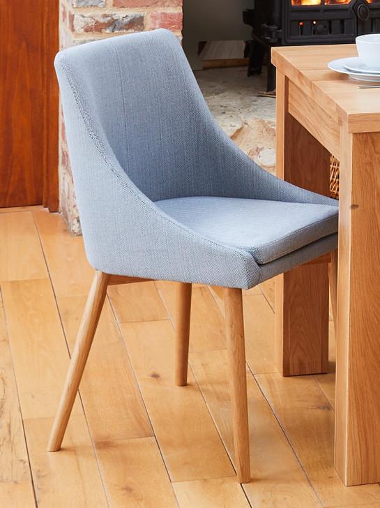 Mobel Oak Slate Grey Dining Chairs - 1