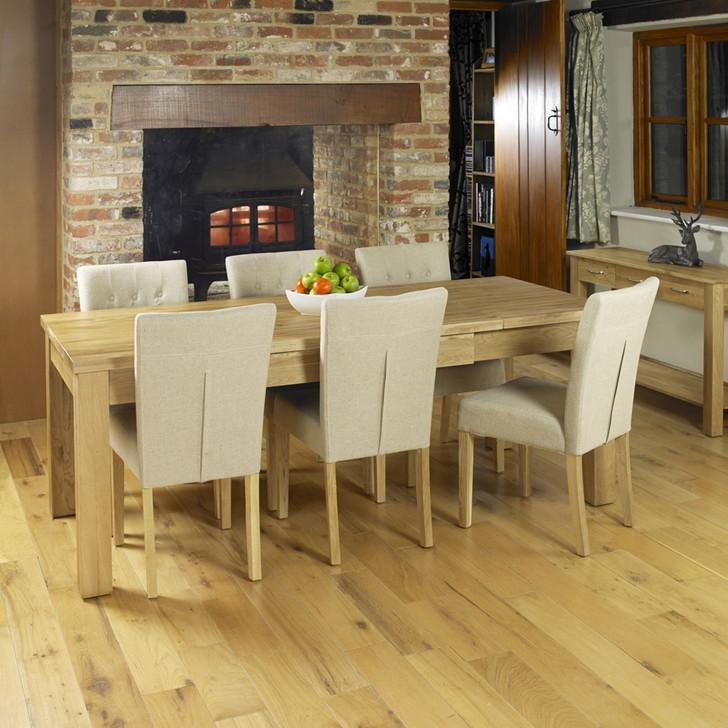Mobel Oak Hidden Extending Dining Table - COR04E - 1