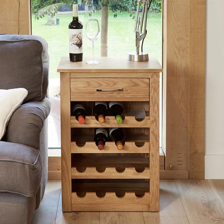Mobel Oak Wine Rack Lamp / Table - COR05A - 1