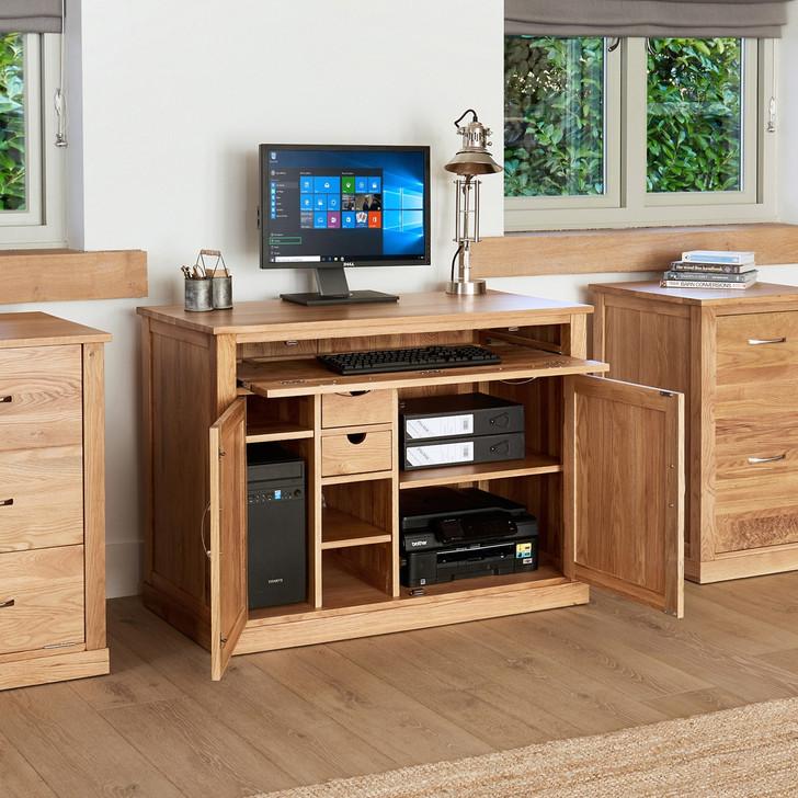 Mobel Oak Hidden Home Office Workstation - COR06A - 1