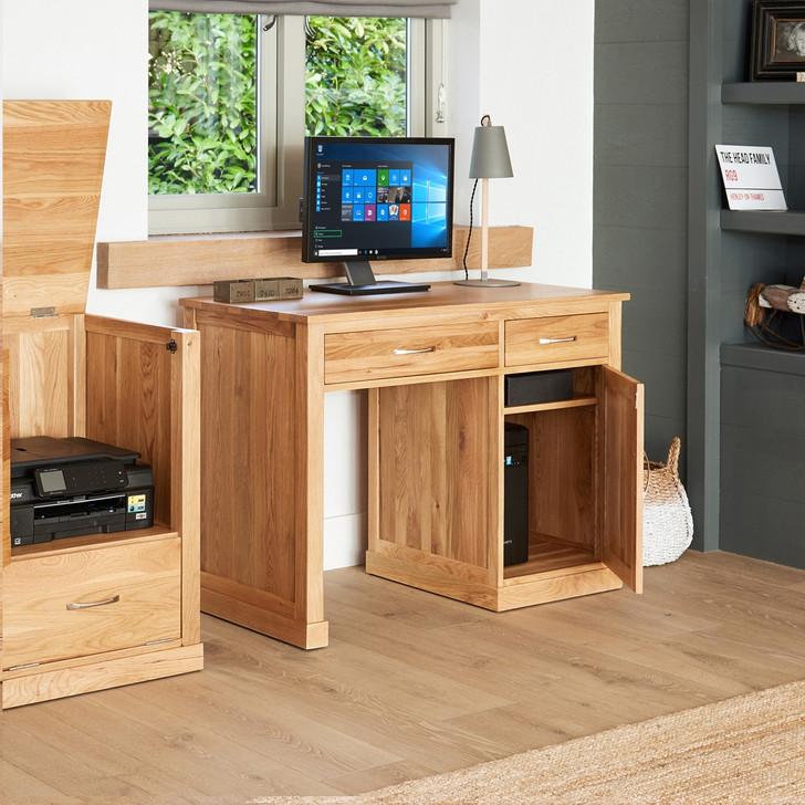 Mobel Oak Single Pedestal Computer Desk - COR06B - 1