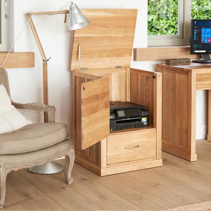 Mobel Oak Printer Cupboard - COR07C - 1