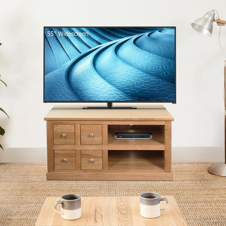 Mobel Oak Four Drawer Television Cabinet - COR09A - 1
