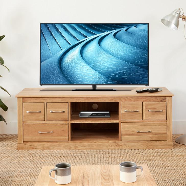 Mobel Oak Widescreen Television Cabinet - COR09B - 1