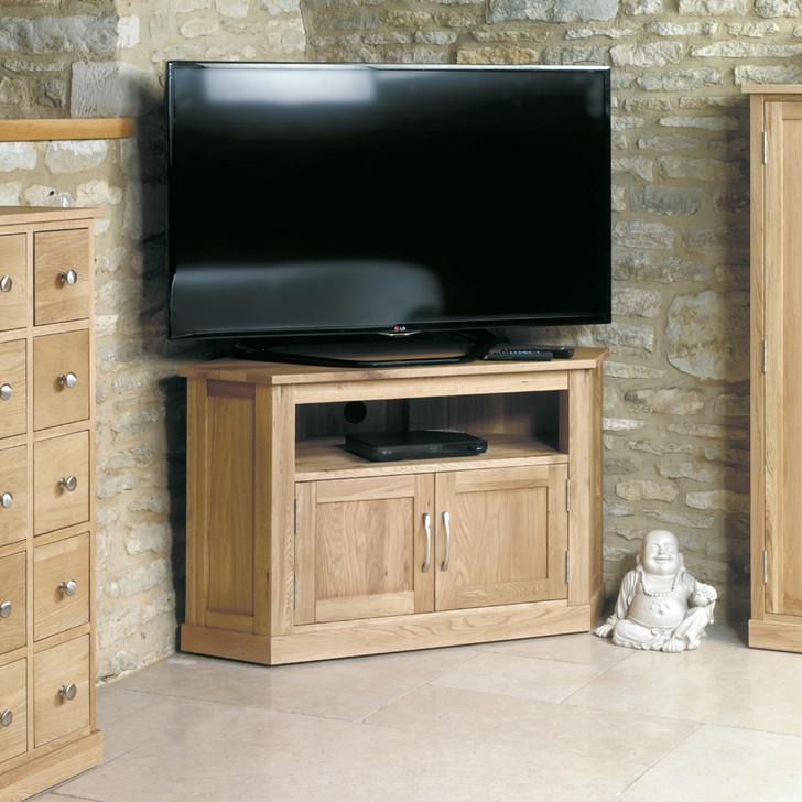 Mobel Oak Corner Television Cabinet - COR09C - 2