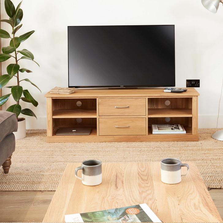 Mobel Oak Mounted Widescreen Television Cabinet - COR09E - 1