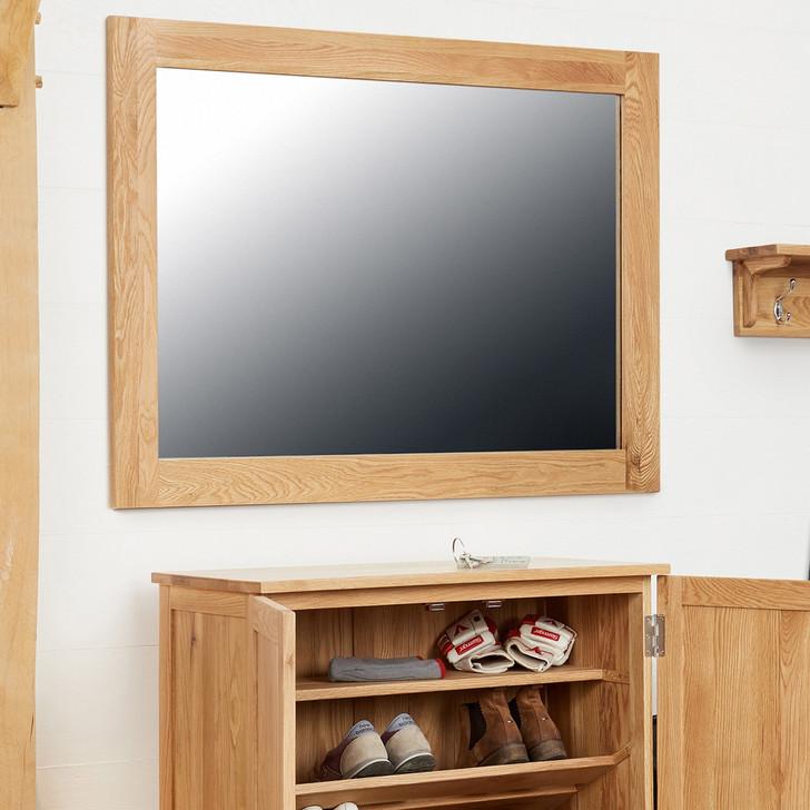 Mobel Oak Medium Wall Mirror - COR16B - 1
