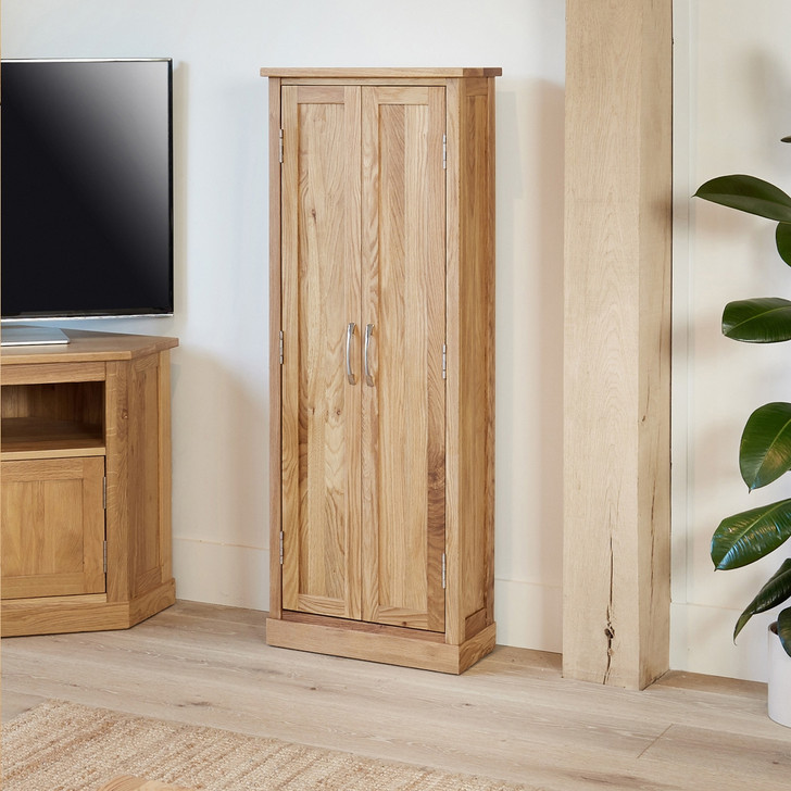 Mobel Oak DVD Storage Cupboard - COR17B - 1