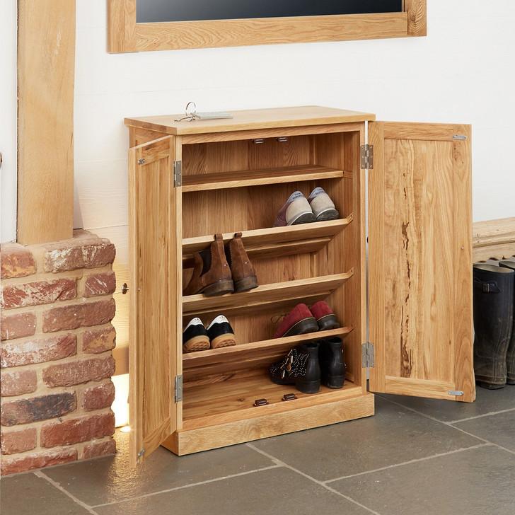 Mobel Oak Shoe Cupboard - COR20A - 1