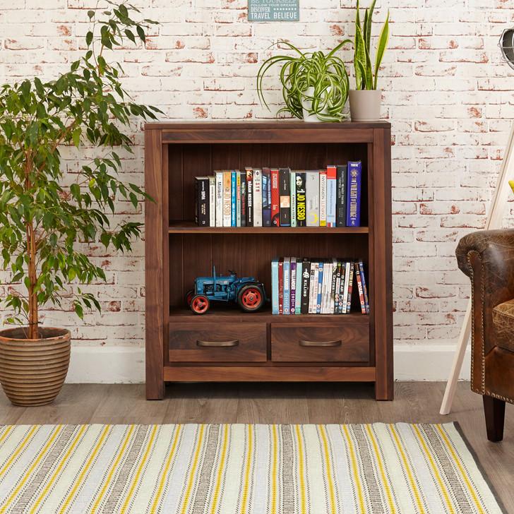 Mayan Walnut Low Bookcase - CWC01B - 1
