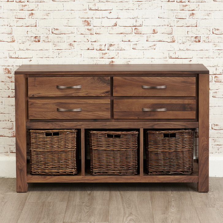 Mayan Walnut Console Table - CWC02D - 1