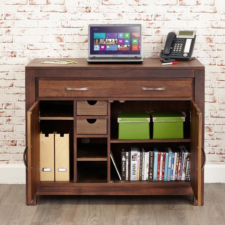 Mayan Walnut Hidden Home Office - CWC06A - 1