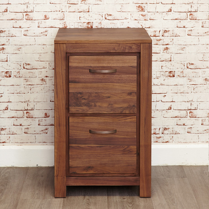 Mayan Walnut Two Drawer Filing Cabinet - CWC07A - 1