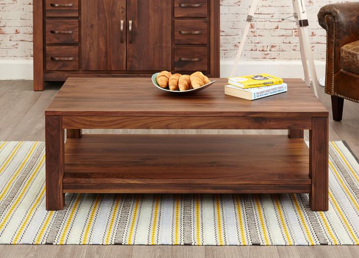 Mayan Walnut Open Coffee Table - CWC08C - 1