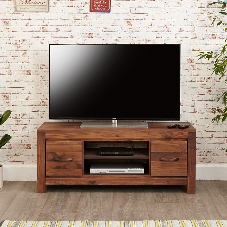 Mayan Walnut Low Television Cabinet - CWC09A - 1