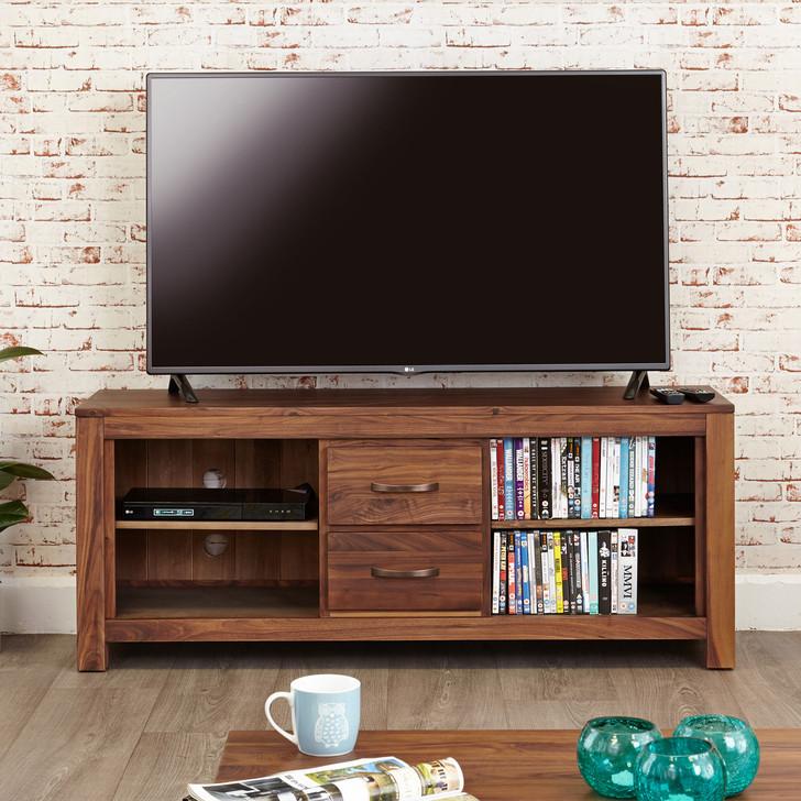 Mayan Walnut Widescreen Television Cabinet - CWC09B - 1