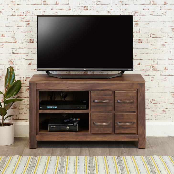 Mayan Walnut Four Drawer Television Cabinet - CWC09D - 1