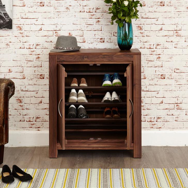 Mayan Walnut Shoe Cupboard - CWC20A - 1