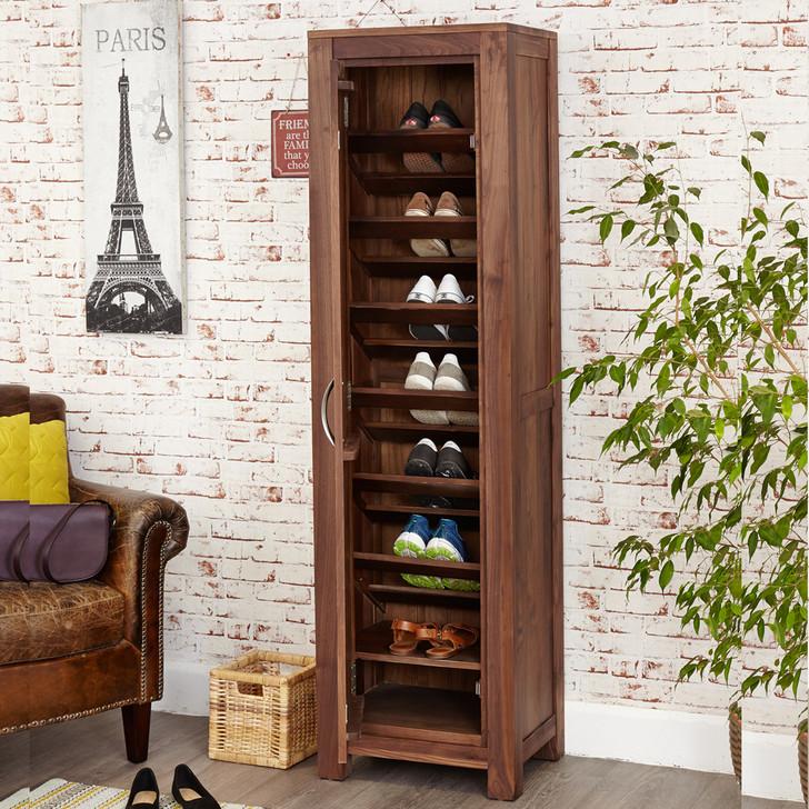 Mayan Walnut Tall Shoe Cupboard - CWC20E - 1