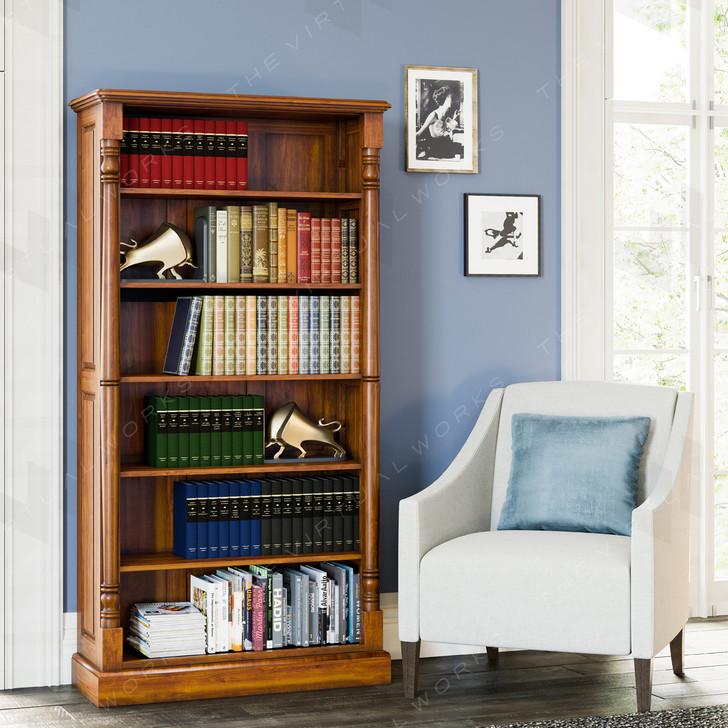 Broomfield Mahogany Large Bookcase - 1
