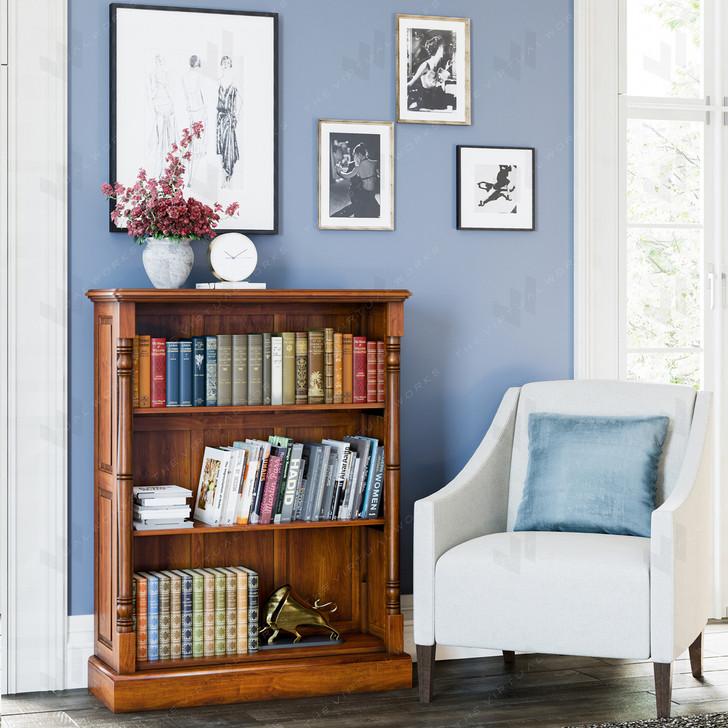 Broomfield Mahogany Low Bookcase - 1