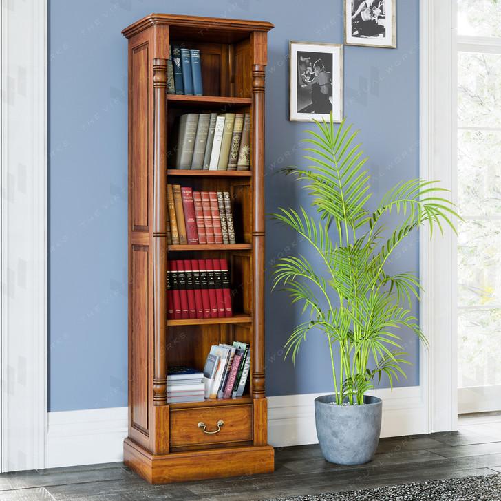 Broomfield Mahogany Narrow Alcove Bookcase - 1