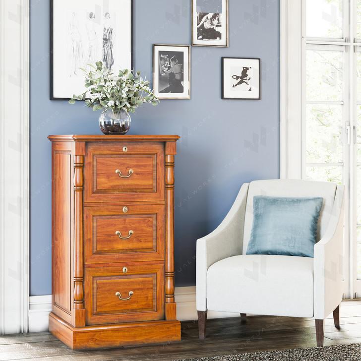 Broomfield Mahogany Three Drawer Filing Cabinet - 1