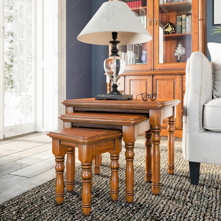 Broomfield Mahogany Nest of Coffee Tables - 1