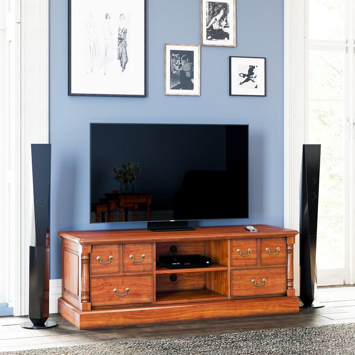 Broomfield Mahogany Widescreen Television Cabinet - 1