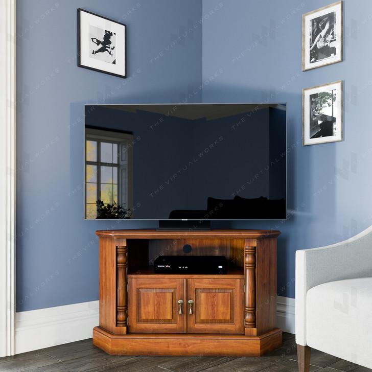Broomfield Mahogany Corner Television Cabinet - 1