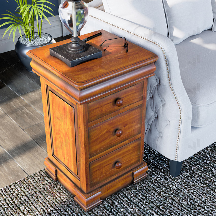 Broomfield Mahogany Four Drawer Lamp Table - 1