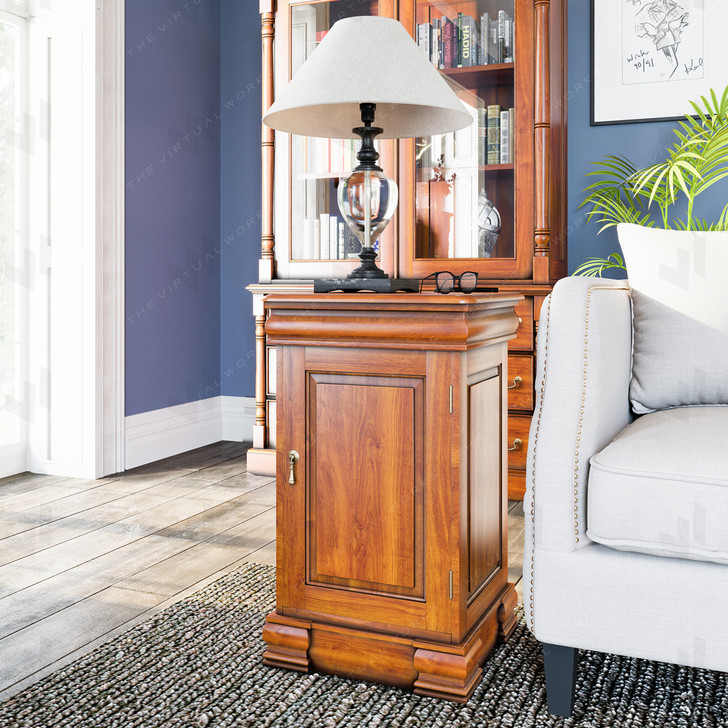 Broomfield Mahogany Lamp Table / Bedside Cabinet - 1