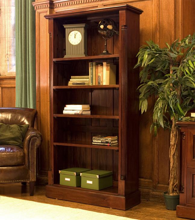 La Roque Tall Open Mahogany Bookcase - IMR01A - 1