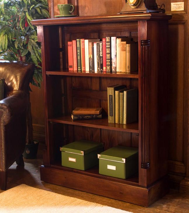 La Roque Low Open Mahogany Bookcase - IMR01B - 1