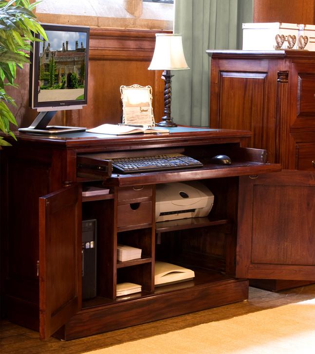 La Roque Mahogany Hidden Home Office - IMR06A - 1