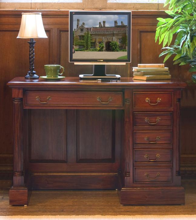 La Roque Single Pedestal Mahogany Computer Desk - IMR06B - 1