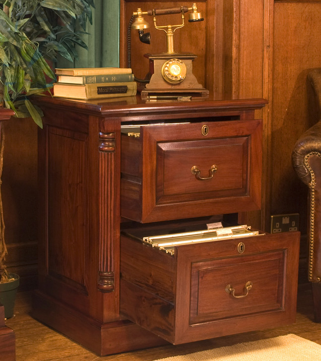 La Roque Mahogany Two Drawer Filing Cabinet - IMR07A - 1