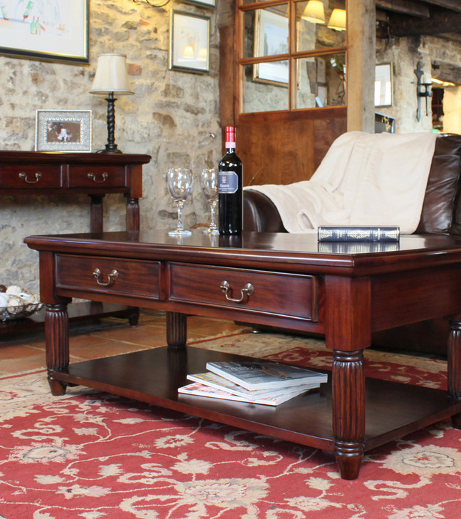 Mahogany Coffee Table With Drawers La Roque - IMR08A - 1