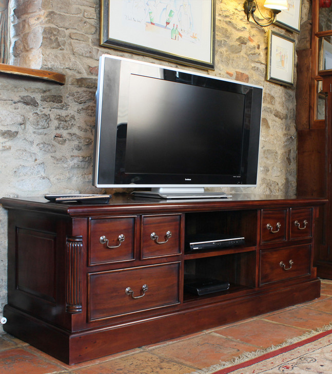 Mahogany Widescreen Television Cabinet - IMR09A - 1