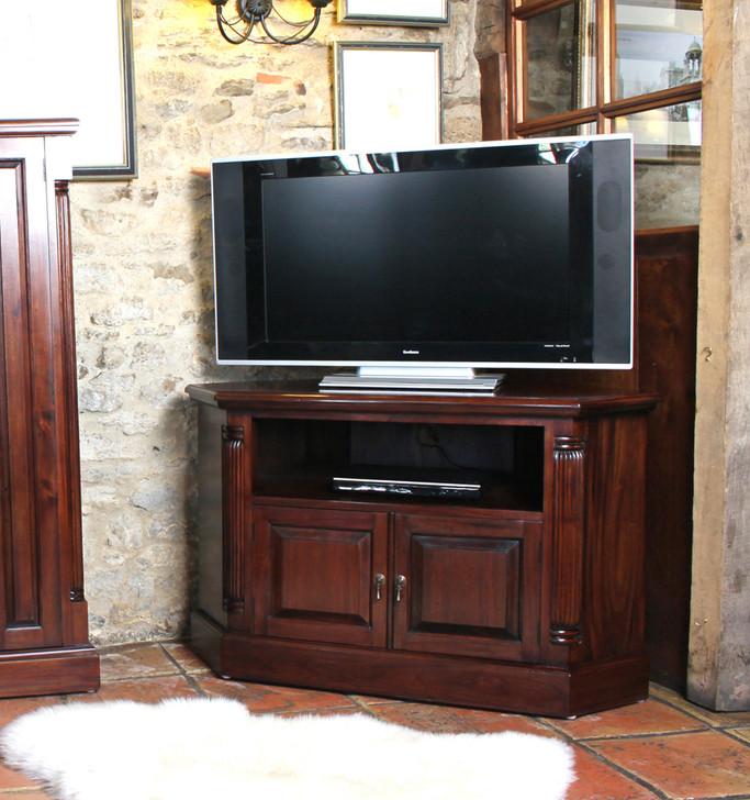 Mahogany Corner Television Cabinet - IMR09B - 1