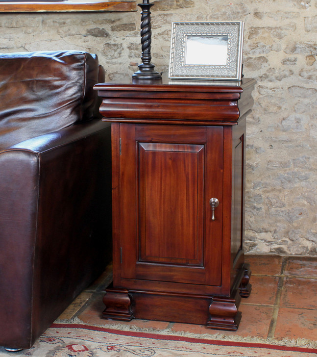 Mahogany Lamp Table and Pot Cupboard - IMR10B - 1