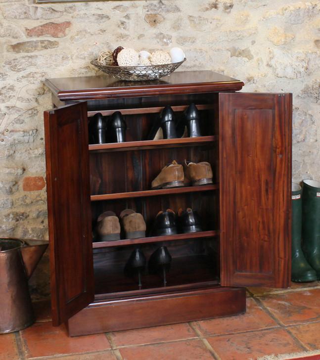 Mahogany Shoe Cupboard - La Roque - IMR20A - 1
