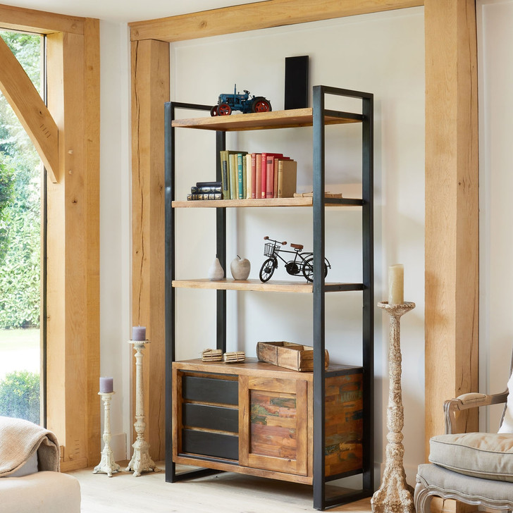 Urban Chic Large Bookcase with Storage - IRF01E - 1