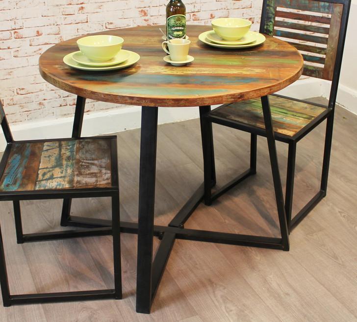 Urban Chic Round Dining Table(100cm x 100cm) - IRF04E - 1