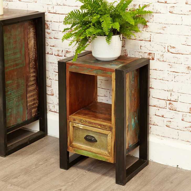 Urban Chic Lamp Table / Bedside Cabinet - IRF10A - 1