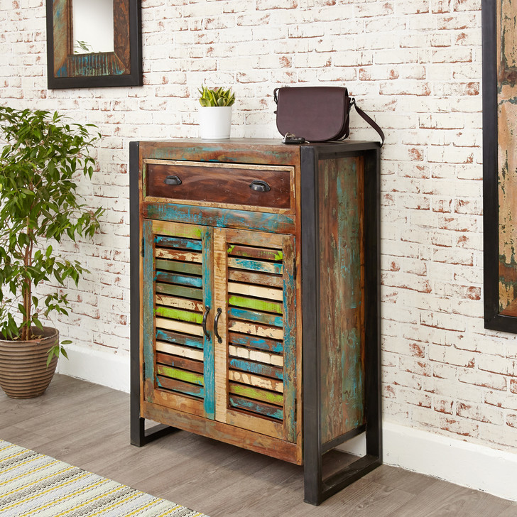 Urban Chic Shoe Storage Cupboard (with drawer) - IRF20A - 1