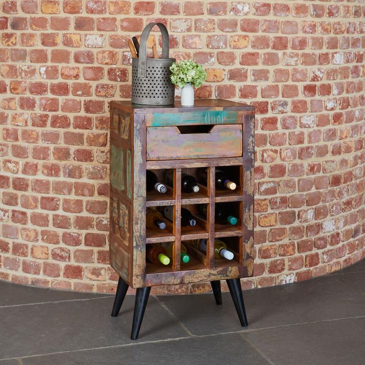 Coastal Chic Wine Rack Lamp Table - IRS05A - 1